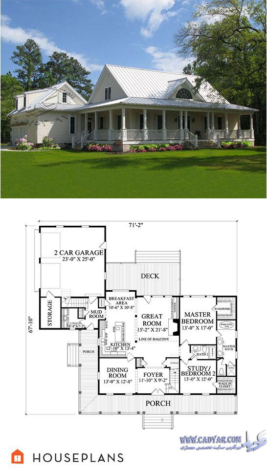Single Floor House Plans With Wrap Around Porch
