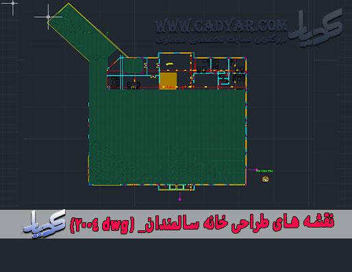 نقشه های طراحی خانه سالمندان_ dwg