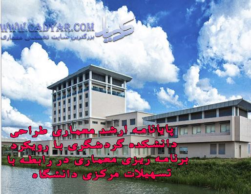 پایانامه ارشد معماری طراحی دانشکده گردشگری با رویکرد برنامه ریزی معماری در رابطه با تسهیلات مرکزی دانشگاه